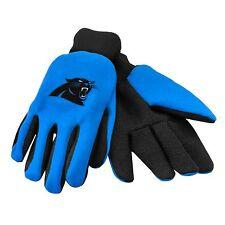 Carolina Panthers Gloves Sports Logo Utility Work Garden NEW Colored Palm