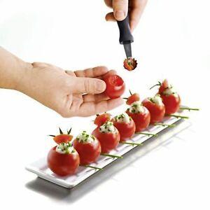 Tomaten Erdbeer Entstieler Ausstecher Aushöhler Kugelausstecher Garniermesser