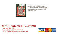 SG 256 M43(5) 10d dull purple & scarlet. A superb lightly mounted mint...