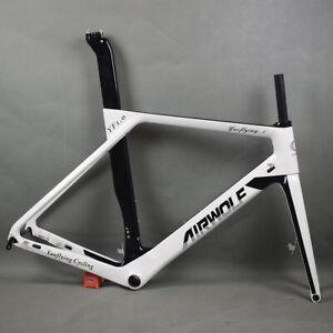 AIRWOLF Road Bike Carbon Fiber Frame Disc Bicycle Frameset Fork Seatpost 49-56cm