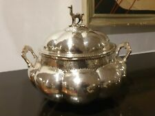 1140g STERLING SILVER COLLECTION HANDLE SOUP ARTISAN TUREEN COLONIAL XVII STYLE