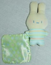 Fisher Price Bunny Rabbit Holding Blanket Rattle Plush Toy R6070