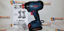 "Bosch GDX18V-1600 18V Li-Ion 1/4"" Hex & 1/2"" Socket Impact Driver w/ Battery 4Ah"