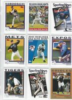 2004 Topps Baseball COMPLETE TEAM SETS  Mint Factory Set Cards Free Shipping