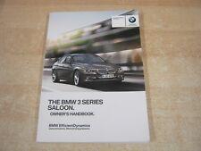 BMW 3 SERIES 2012 onwards INC SAT NAV AND I  DRIVE handbook OWNERS MANUAL