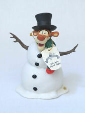 Disney Pooh & Friends Chilly willy silly ol' Tigger Snowman Figure & Box Cute