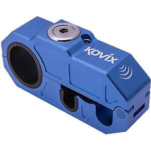 KOVIX BLUE ZINC ALLOY GRIP LOCK WITH ALARM KOKHLBE Motorbike Scooter Bicycle