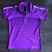 Adidas Women's Puremotion Coolmax Purple Golf Polo Size: XL