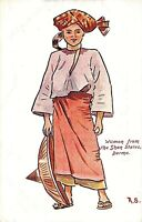 POSTCARD BURMA - WOMAN FROM THE SHAN STATES