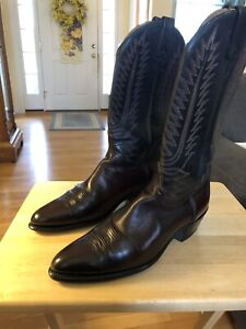 Acme Brown Leather Cowboy Western Boots Mens Size 9 1/2 EW