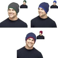 HAT Reversible MEN'S Beanie Cosy FASHIONABLE Different Colours ONE SIZE