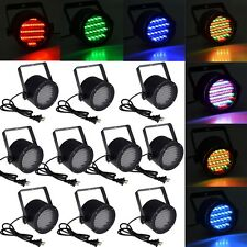 10pcs 86 RGB LED Stage Light Par DMX-512 Lighting Laser Projector Party Club DJ