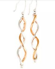 NEW 14k Rose Gold White Gold Dangle Earrings