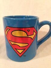 "Superman Coffee Mug DC Comics New 4"" Blue Ceramic"