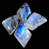 Natural Blue Qaulity Rainbow Moonstone Lot Cabochon Loose Gemstone