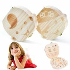Milchzahn Box Milchzähne Baby Milchzahndose Zahndose Holzbox Kinder Sicherheit