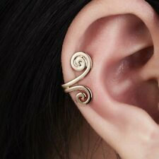 Stud Clip Cuff Women Earring Jewelry 1Pc U Shape Geometry Gold Round Punk Ear