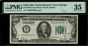 1928 $100 Federal Reserve Note - Chicago FR.2150-G - Graded PMG 35