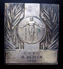 Sport Awards Medallion Medal 1970 / G. Merlen / BRONZE MEDAL / 54 x 61 mm N.118