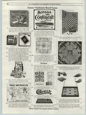 1919 PAPER AD The Night Before Christmas Board Game Mother Goose Series Bungo ++