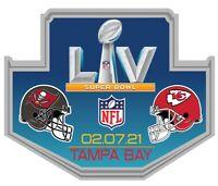 SUPER BOWL LV 55 PIN KANSAS CITY CHIEFS TAMPA BAY BUCCANEERS NFL BRADY MAHOMES