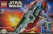 Lego Star Wars Vaisseau Spatial 75060 ESCLAVE 1 incl. tous les chiffres RARE