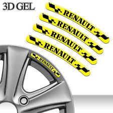 4 RENAULT FELGENRANDAUFKLEBER 3D GEL AUFKLEBER EMBLEM AUTO CAR RIM STICKERS C87