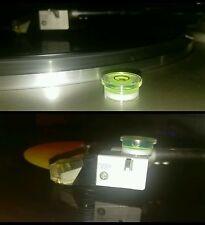 N°2 Micro Livelle a bolla trasparente fluorescenti per testine giradischi