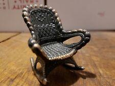 Dollhouse Furniture Rocking Chair Rocker Durham Metal Copper Color Vtg 1976 #39