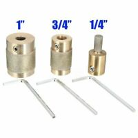 """3Pcs 1"""" 3/4"""" 1/4""""Brass Core Grit Stained Glass Diamond Grinder Grinding Bit Head"""