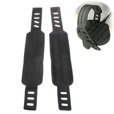 Pair Generic Exercise Bike Pedal Straps Belts Stationary Rubber For Most Schwinn