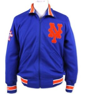 Authentic 1986 MLB Mitchell & Ness New York Mets Vintage warm-up Jacket