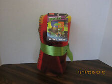 "TEENAGE MUTANT NINJA TURTLES FLEECE TOUCH BLANKET 40"" x 50"""