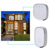 Wireless Doorbell Wall Plug-in Cordless Door Chime 300m Range Waterproof