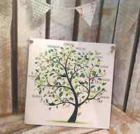014 Personalised Family Tree plaque / 19 X 19 Shabby Chic Sign