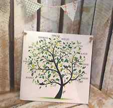 014 Hand Made Personalised Family Tree plaque / Unique Name Family Sign