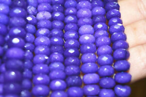 Natural 5x8mm Faceted Purple Amethyst Gems Rondelle Loose Beads 15'' Strand