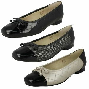 Ladies Equity Wide Fitting Ballet Style Shoes 'Terri'