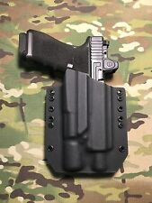 Black Kydex Holster for Glock 17 22 31 Threaded Barrel Surefire X300 Ultra A