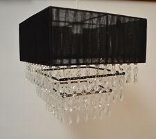 Black Voile Jewel Chandelier Pendant Light Shade