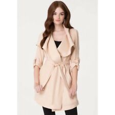 Bebe Natural Drape Collar Trench Coat new with tag Size Small