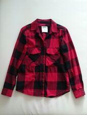 ZARA WOMAN Premium Denim Collection Bluse Top Oberteil kariert rot schwarz S