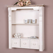 Cream Wall Shelf Unit Shabby Vintage Chic Cabinet Cupboard Kitchen Home Decor
