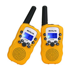 2x Retevis Rt-388 Kids Walkie Talkie UHF 2-way Radio Flashlight LCD Display Gift