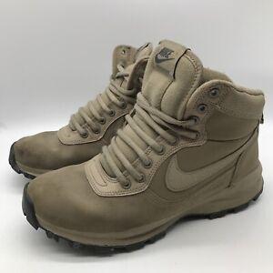 Nike Manoadome Hiking Boots 844358-200 Men's Shoe Size 9 Khaki/Dark-Grey