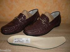 Mokkassin Slipper in braun (pflaume) & Lackleder NEU Gr. 41 von Green Comfort