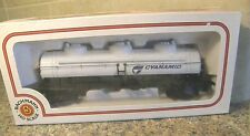BACHMANN 3 DOME TANK CAR IN BOX 6 INCHES LONG HO GAUGE NICE