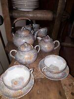 Sevice à thé, porcelaine de Chine, XIXème signé Grande qualité