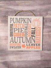 "Fall Subway Art Decorative Wooden Sign, Autumn, 10"", Wood, Handmade, P239"