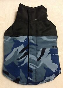 Blue Camo Dog Vest - Camouflage - XXS - Weather Resistant - Casual Canine - NWT